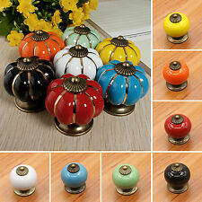 Ceramic Knobs Handles Door Pull Drawer Cupboard Wardrobe Porcelain Hardware DIY