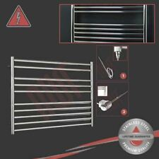 1000mm(w) x 800mm(h) Electric Polished Stainless Steel Towel Rail Radiator 150W