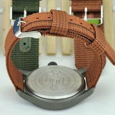 Chic Male Military Army Nylon Fabric Canva Wrist Watch Band Strap 18-24mm 4Color
