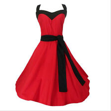 Vintage Rockabilly Red Dress Ball Gown Plus Size Party Dresses 50's Dress