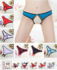Panty Crotchless Lace Thong  Hot Panties Lingerie Briefs Ribbon Underwear Sexy