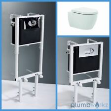 Toilet WC Height Adjustable Wall Hung Concealed Cistern White Toilet Bathroom
