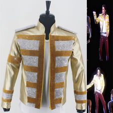 MJ Michael Jackson 3D Slave To The Rhythm Music Award Crystal Golden Jacket Punk