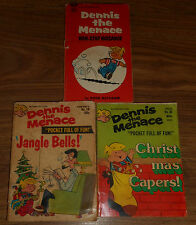 Lot 3 Vintage Comic Book Issue 1970s Dennis The Menace Pocket Full Of Fun #10 +