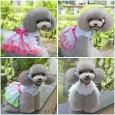 Small Dog Cat Princess Skirt Clothes Pet Puppy Bow Knot Tutu Dress Apparel H23