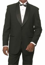 Men's Fashionable Shawl Lapel 2-Button Tuxedo Suit with Pants Black T822