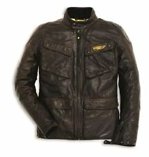 Ducati Scrambler leather jacket Quattro Bag brown Motorcycle