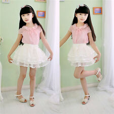 Baby Girls Party Tutu Princess Skirt Tulle Layered Cake Skirt Dress Bowknot