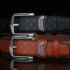 New!!! Leather Men's Casual Dress Pin Metal Buckle Waist Strap Belt Waistband