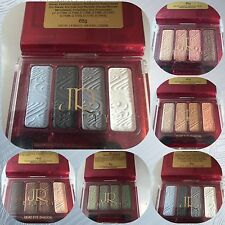 Quad Eye Shadow Kit with applicator wand Blues Browns Greens Grey Pink Gold