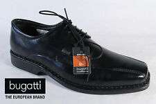 Bugatti Men's Lace-up Shoes, Low shoes Sneakers trainers Black Leather New