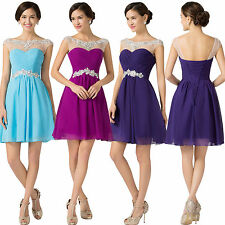 CHEAP!Short Graduation Bridesmaid Formal Prom Party GOWN Evening Dress PLUS SIZE