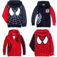 Boys Girl Kids Marvel Hero Spider-Man Sweatshirt Hoodie Clothes Unisex Coat Tops