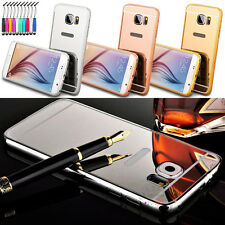 New Luxury Removable Mirror Back Cover + Metal Aluminum Bumper Frame Shell Case