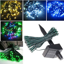 17m 100LED Solar Powered LED Outdoor Xmas Tree/Party/Wedding/Garden String Fairy