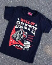 Hotrod Hellcat Wall Of Death Kids Tee Tattoo Punk Alternative Rockabilly Shirt