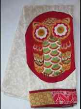 Owl or Floral Embroidered Kitchen/Tea/Hand Towel, Cotton, Multi-color