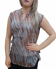 Womens New Blouse Sleeveless Blouse Top Casual Evening Summer Blouse UK 8 - 22