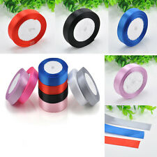 "1 Roll 25 Yards 1"" (20mm) Satin Ribbon Roll Bow Wedding Party Craft Decoration"
