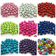 25 OR 100 10MM 3D ILLUSION MIRACLE ROUND ACRYLIC BEADS FOR JEWELLERY MAKING