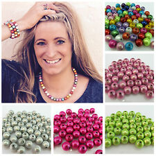 20 14MM 3D ILLUSION MIRACLE ROUND ACRYLIC BEADS FOR JEWELLERY MAKING - UK SELLER