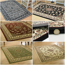RED GREEN BEIGE NAVY - SMALL TO EXTRA LARGE ELEGANT CLASSIC TRADITIONAL SOFT RUG
