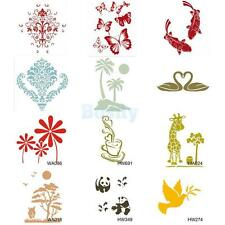 Wall Painting Stencil Plastic Mural Home Decorating Plate DIY Craft Decor