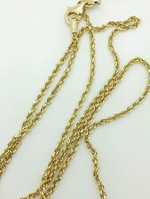 """14k Solid Yellow Gold Diamond Cut Twist Rope Necklace Pendant Chain 1.5mm 16-24"""""""