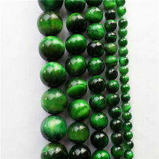 AA+ Natural Gree Tiger Eye Gem Round Ball Loose Bead 15.5 inch 4/6/8/10/12mm FQ3