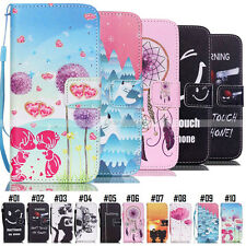 Card Slot Wallet Flip Stand PU Leather Case Cover Back For Apple/Samsung/Huawei