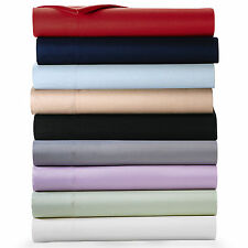 """Real 400TC 100% Egyptian Cotton Ultra Soft Solid 4PC Sheet Set 21""""Deep CA Size"""