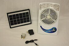 Solar Power Panel Desk Type USB Charging Fan With Eye-Protection Lamp