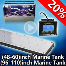 Full Spectrum 96in LED Aquarium Coral Grow Light Fish Tank Lighting,Sunrise Moon