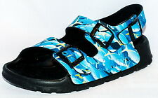 Birki Sandals by Birkenstock for Kids Boys Strap  Birkis Aruba Fish Blue Narrow