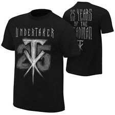 *WWE THE UNDERTAKER 25 YEARS SPECIAL EDITION AUTHENTIC T-SHIRT BRAND NEW SEALED*