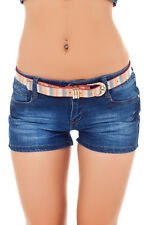 Hot Shorts Jeans Shorts Hipster Women's jeans Low-rise jeans Panty 36-42 Blue