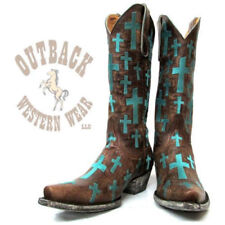 Old Gringo Women's Ooh My God II Brass Turquoise Snip Toe Boots L1656-1