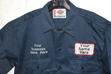 dickies mens custom patch embroidered work uniform long sleeve shirt small-4xl