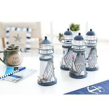13.5cm Lighthouse Iron Candle Holder Nautical Beach Anchor Decoration Wedding