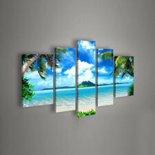 Canvas Paintings Landscape Picture Print for Living Room Wall Seascape Beach 5PC