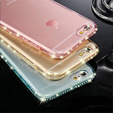 Luxury Crystal Diamond Bling Glitter Soft TPU Gel Case Cover for iPhone Samsung