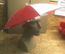 Parasol Umbrella Hat Striped Many Colors Rain Headpiece Hands Free Umbrella