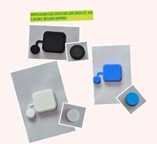 For GoPro Cover Hero 3, 3+, 4  Soft Silicone Lens Protective Cap Case Cover Set