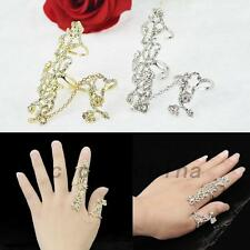 Adjustable Finger Stack Knuckle Ring Crystal Rhinestone Party Jewelry Sparkle