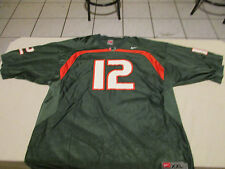 MIAMI HURRICANES #12 NIKE JERSEY SIZE 2XL CANES THE U FOOTBALL
