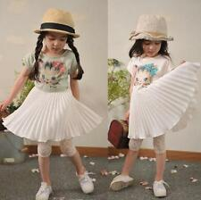 Baby Girls Pleated Chiffon Sweet Dress Cat Print Summer Princess Pegeant Dress