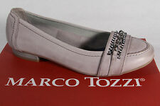 Marco Tozzi Ballerinas Slippers grey, Real leather NEW
