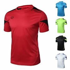 New Mens Sport Running Casual Quick Dry Shirts  Outdoors Stretch Top Tee T-Shirt