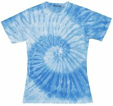 Colortone Womens Tie Dye Spider T-Shirt - Blue or Pink / UK 10 - 16