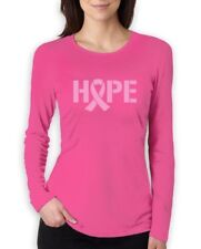 Hope Breast Cancer Awareness Pink Ribbon Women Long Sleeve T-Shirt Support